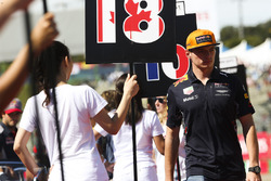 Max Verstappen, Red Bull, in the drivers parade