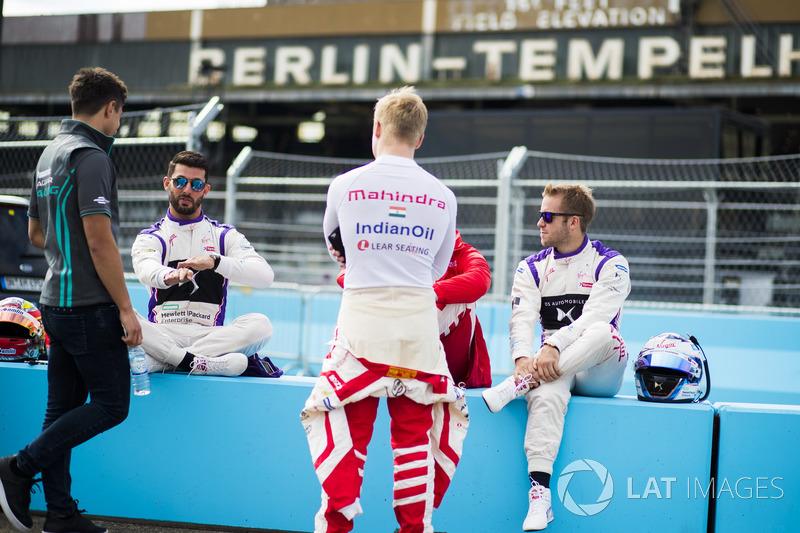 Mitch Evans, Jaguar Racing, Jose Maria Lopez, DS Virgin Racing, Felix Rosenqvist, Mahindra Racing, N