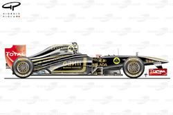 Lotus Renault R31 side view, German GP