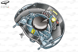 Ferrari F2003-GA front upright
