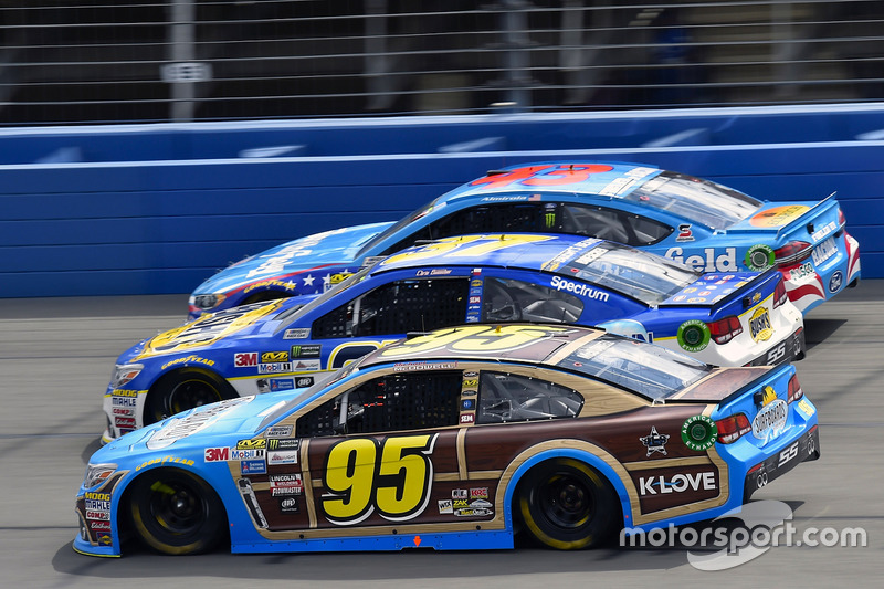 Michael McDowell, Leavine Family Racing, Chevrolet; A.J. Allmendinger, JTG Daugherty Racing, Chevrolet; Aric Almirola, Richard Petty Motorsports, Ford