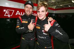Les polemen Marcel Fassler, Dries Vanthoor, Belgian Audi Club Team WRT