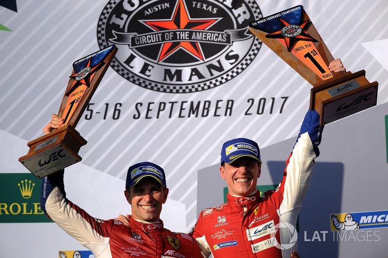 Podio LMGTE Pro: i vincitori James Calado, Alessandro Pier Guidi, AF Corse