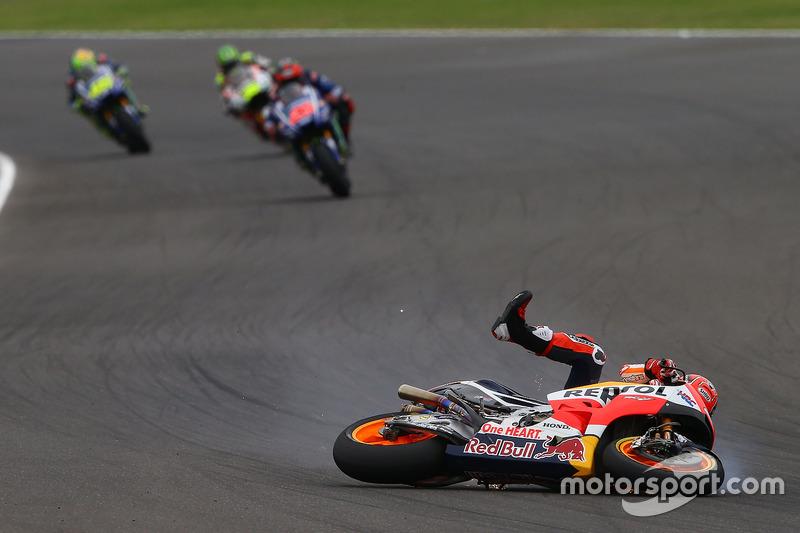 Marc Marquez, Repsol Honda Team, crash