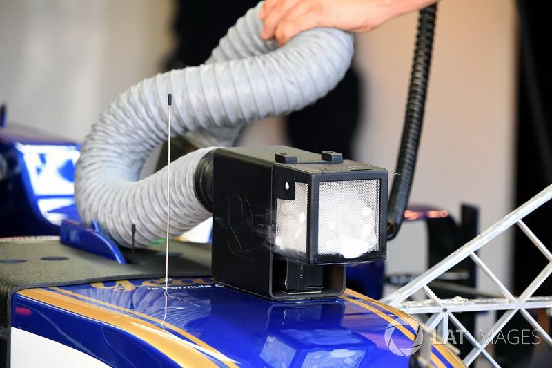 Sistema de enfriamiento del Sauber C36