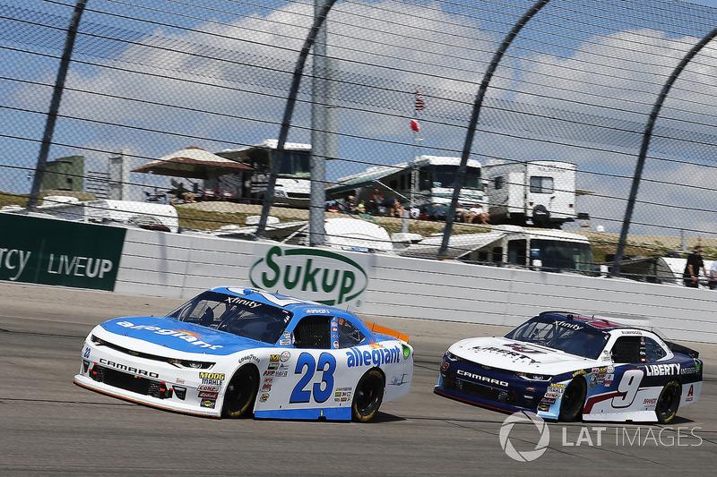 Spencer Gallagher, GMS Racing Chevrolet, William Byron, JR Motorsports Chevrolet