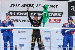 Podium: 1. Pietro Fittipaldi, Lotus; 2. Egor Orudzhev, SMP Racing; 3. Matevos Isaakyan, SMP Racing
