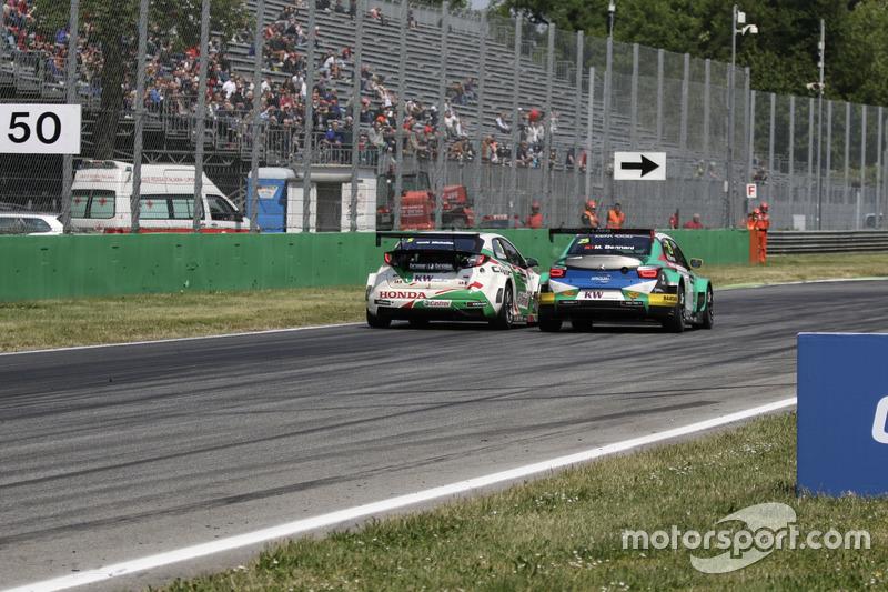 Mehdi Bennani, Sébastien Loeb Racing, Citroën C-Elysée WTCC, Norbert Michelisz, Honda Racing Team JAS, Honda Civic WTCC