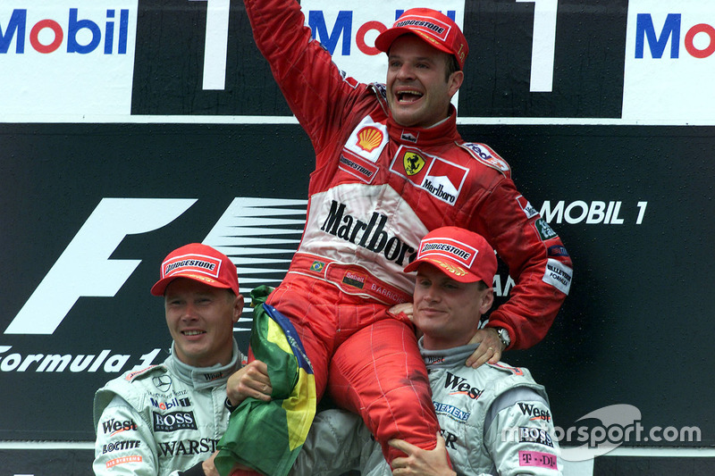 2000: 1. Rubens Barrichello, 2. Mika Häkkinen, 3. David Coulthard