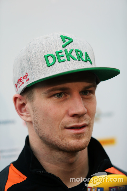 Nico Hulkenberg, Sahara Force India F1 met de media