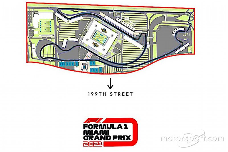 Miami Grand Prix revised track layout