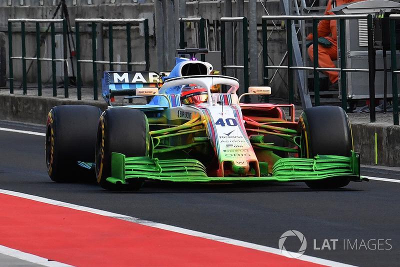 Robert Kubica, Williams FW41 con parafina