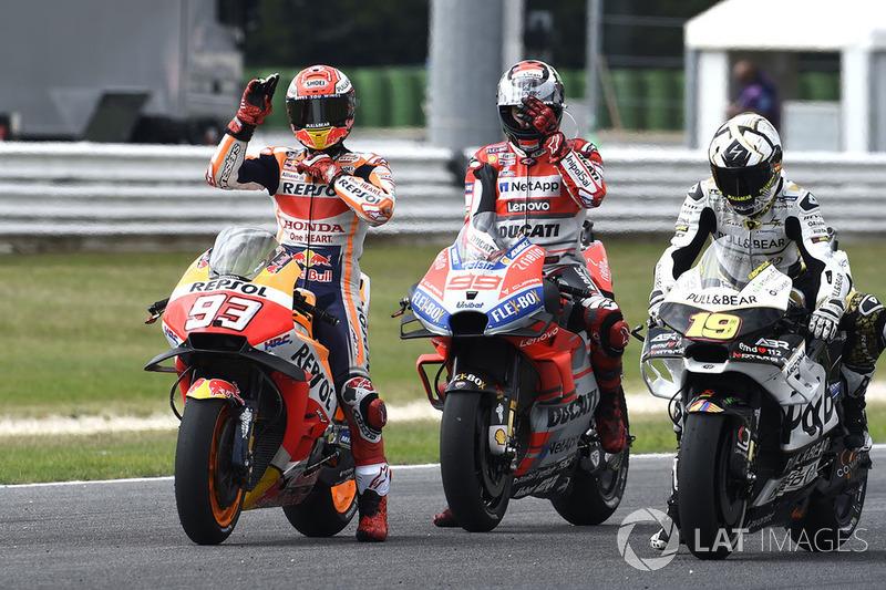 Марк Маркес, Repsol Honda Team, Хорхе Лоренсо, Ducati Team, Альваро Баутіста, Angel Nieto Team