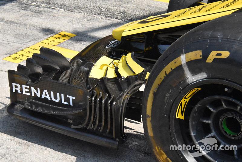 Detalle del ala frontal del Renault F1