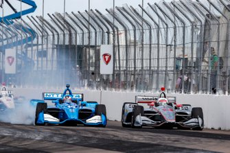 Felix Rosenqvist, Chip Ganassi Racing Honda supera Will Power, Team Penske Chevrolet