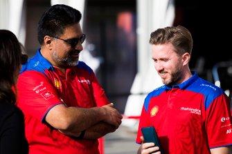 Dilbagh Gill, CEO, Team Principal, Mahindra Racing, with Nick Heidfeld