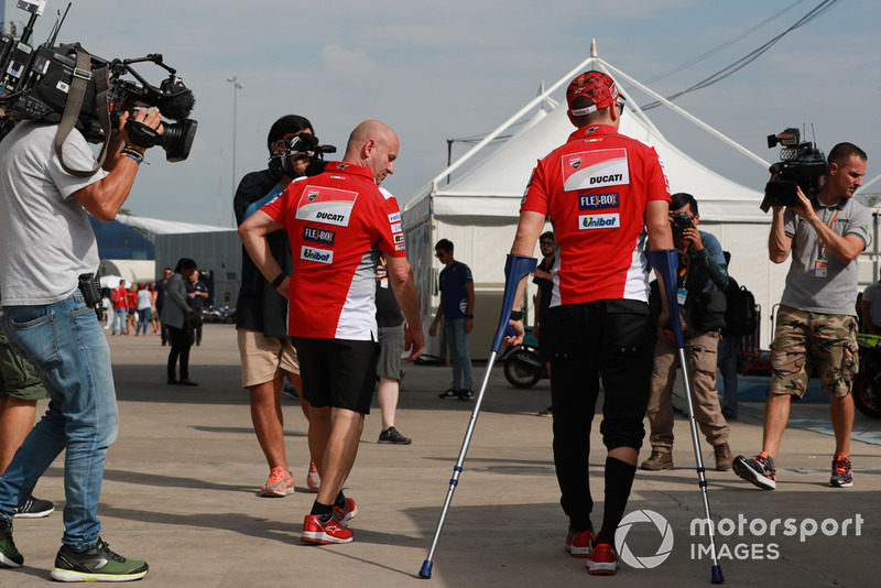 Jorge Lorenzo injured