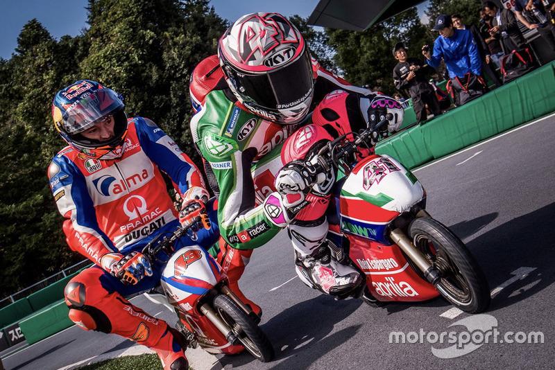 Aleix Espargaro, Aprilia Racing Team Gresini, Jack Miller, Pramac Racing, gara con le Mini-Moto