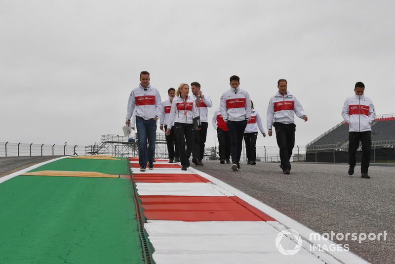 Charles Leclerc, Alfa Romeo Sauber F1 Team walks the track