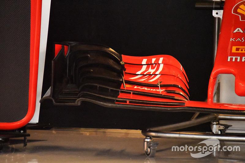 Detail sayap depan Ferrari SF71H