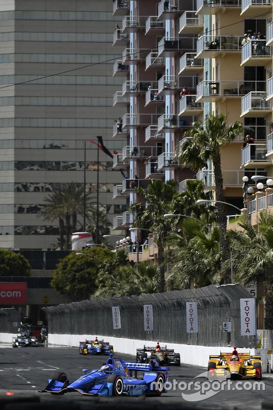 Scott Dixon, Chip Ganassi Racing. Honda; Ryan Hunter-Reay, Andretti Autosport. Honda