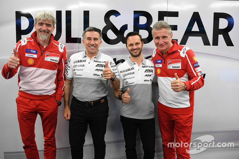 Gigi Dall'Igna, Ducati Team Mánager General, Paolo Ciabatti, Ducati Corse Director Deportivo, Jorge Martínez, mánager general Aspar Team