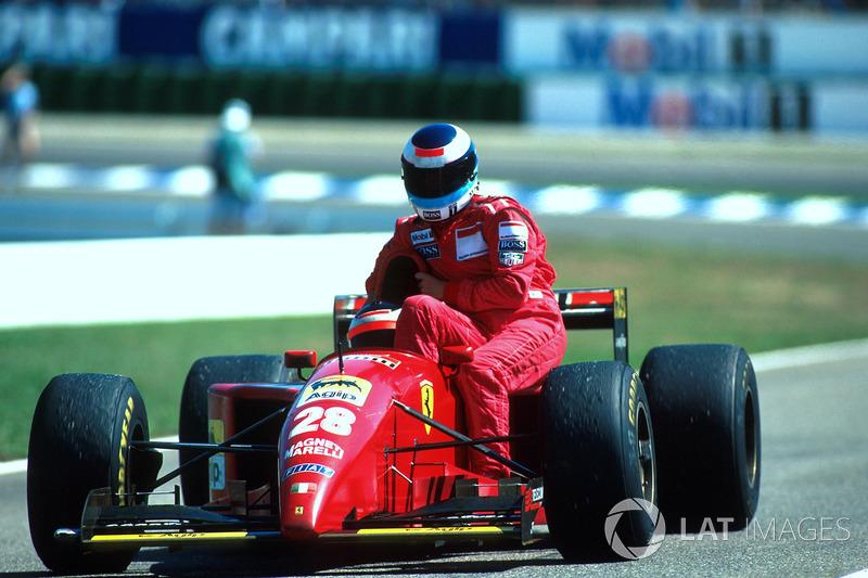 Hockenheim 1995: Mika Häkkinen (McLaren) menumpang Gerhard Berger (Ferrari)