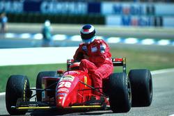 Gerhard Berger, Ferrari 412 T2, Mika Hakkinen, McLaren