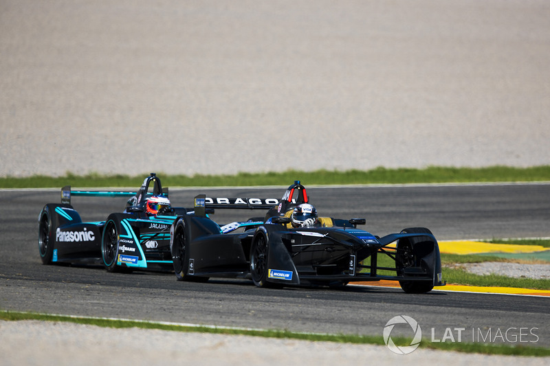 Jérôme D'Ambrosio, Dragon Racing y Mitch Evans, Panasonic Jaguar Racing