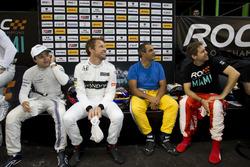 Felipe Massa, Jenson Button, Juan Pablo Montoya and Sebastian Vettel