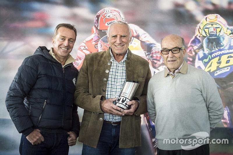 Hervé Poncharal, President of IRTA, Dietrich Mateschitz, CEO and Founder of Red Bull, Carmelo Ezpeleta, CEO of Dorna Sports