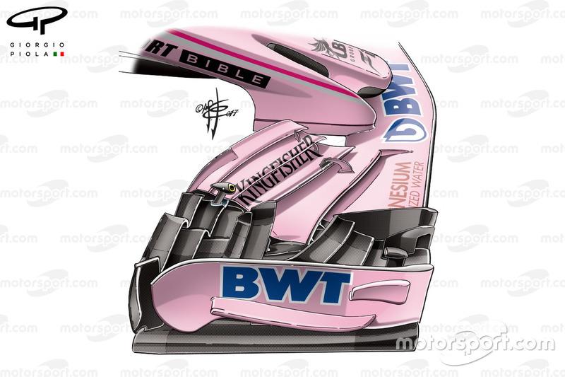 Нове переднє антикрило Force India VJM10, Гран Прі Великої Британії