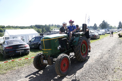 Fans on a tractor