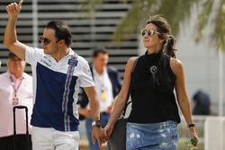 Felipe Massa, Williams, mit Ehefrau Raffaela Bassi