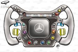 McLaren MP4-17D steering wheel