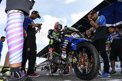 Wahyu Aji Trilaksana di grid start Underbone 130cc