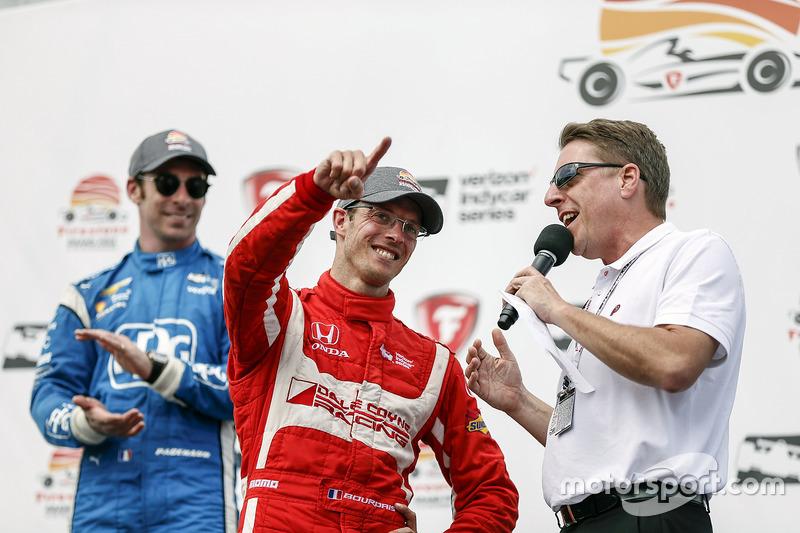 Ganador, Sébastien Bourdais, Dale Coyne Racing Honda celebra