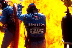 Pit stop sırasında yangın, Jos Verstappen, Benetton B194 Ford