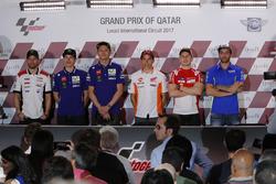 Press conference: Cal Crutchlow, Team LCR Honda; Maverick Viñales, Yamaha Factory Racing; Valentino Rossi, Yamaha Factory Racing; Marc Marquez, Repsol Honda Team; Jorge Lorenzo, Ducati Team; Andrea Iannone, Team Suzuki MotoGP