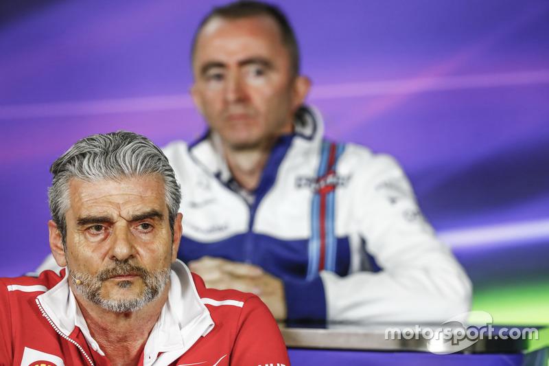 Pressekonferenz: Maurizio Arrivabene, Ferrari; Paddy Lowe, Williams