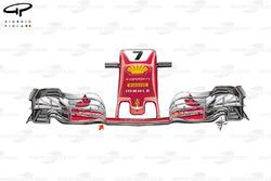 Nuevo morro del Ferrari SF70H