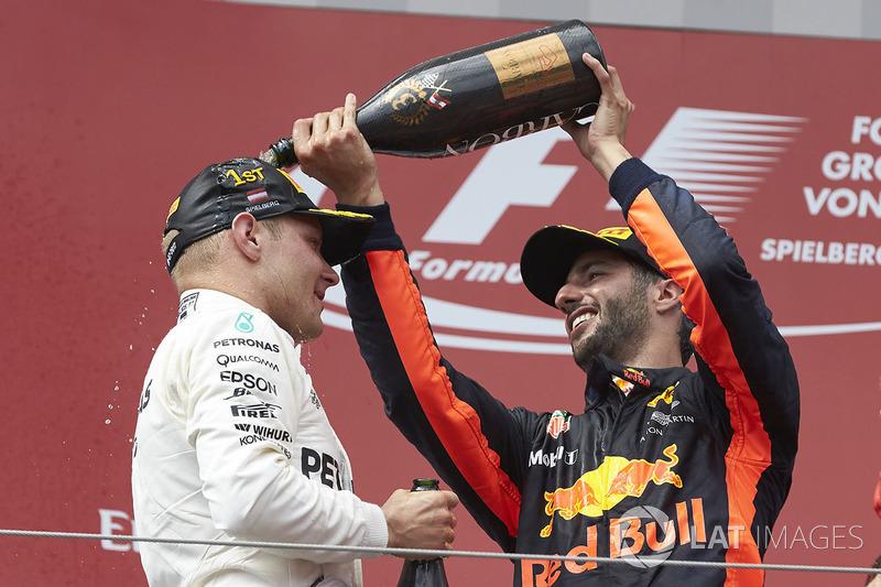 Даніель Ріккардо, Red Bull Racing, Валттері Боттас, Mercedes AMG F1
