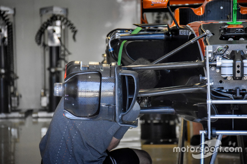 McLaren MCL32, detalle del freno