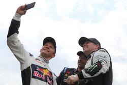 Mattias Ekstrテカm, EKS RX; Sテゥbastien Loeb, Team Peugeot Hansen; Petter Solberg, Petter Solberg World