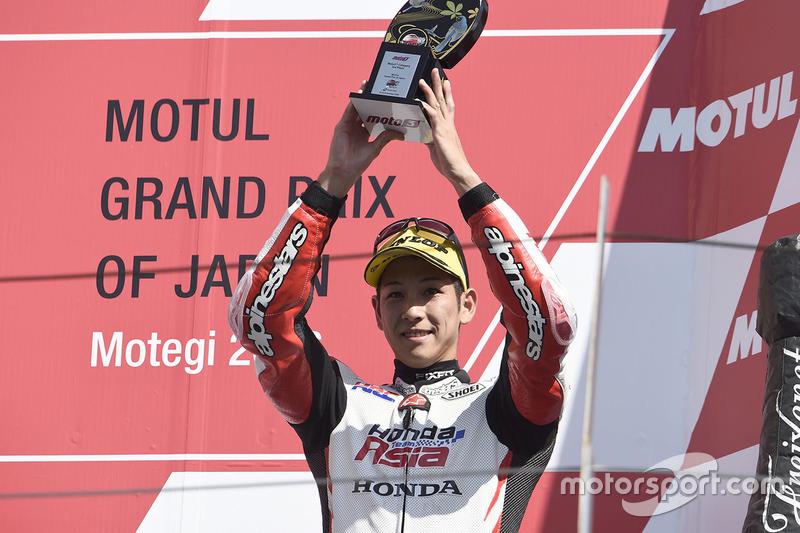 Podium: third place Hiroki Ono, Honda Team Asia