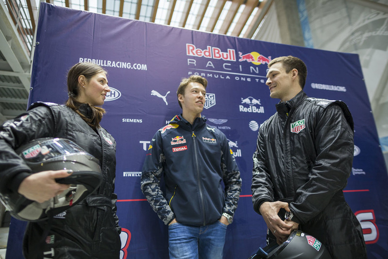 Daniil Kvyat, Red Bull Racing with Alena Zavarziva and Vic Wild