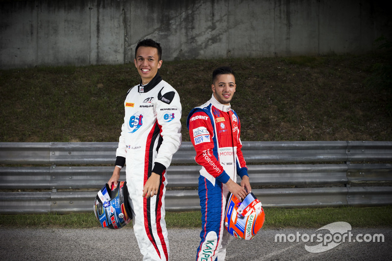 Alexander Albon, ART Grand Prix and Antonio Fuoco, Trident