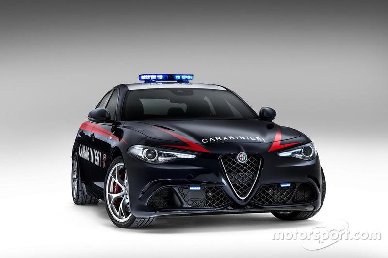 Alfa Romeo Giulia Quadrifoglio der Carabinieri
