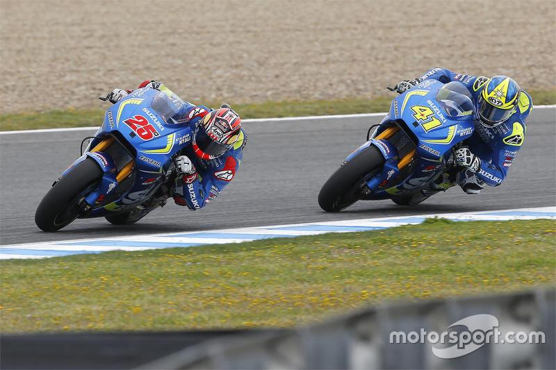 Maverick Viñales, Team Suzuki MotoGP and Aleix Espargaro, Team Suzuki MotoGP