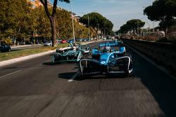 Sébastien Buemi, Renault e.Dams y Nelson Piquet Jr., Jaguar Racing